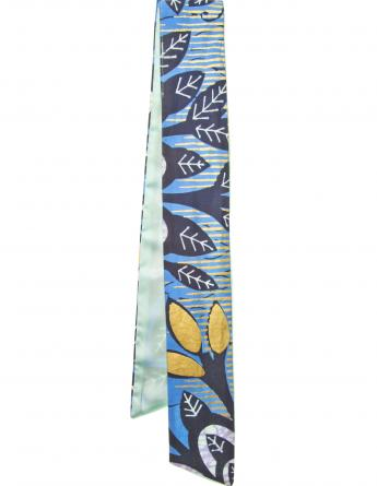 Little Midnight Bloom Satin Vlisco Scarf