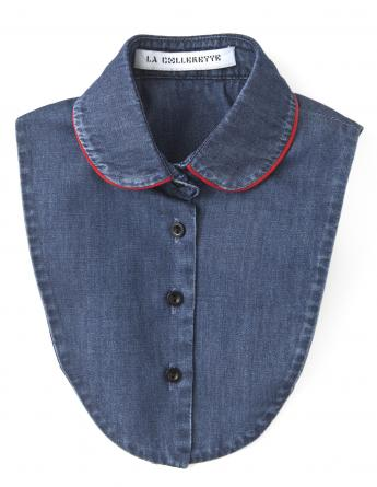 Mini Cherry Line Denim Collar